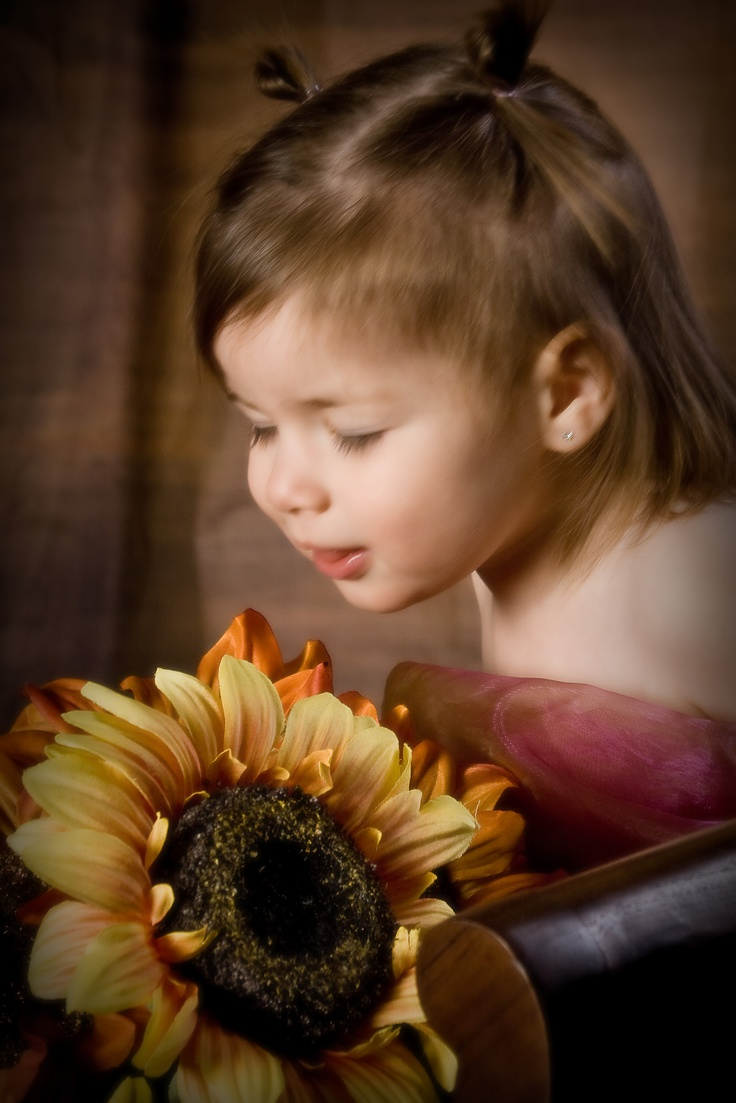 Pretty Candid Flower Pose by Portrait Creations, David Frank.