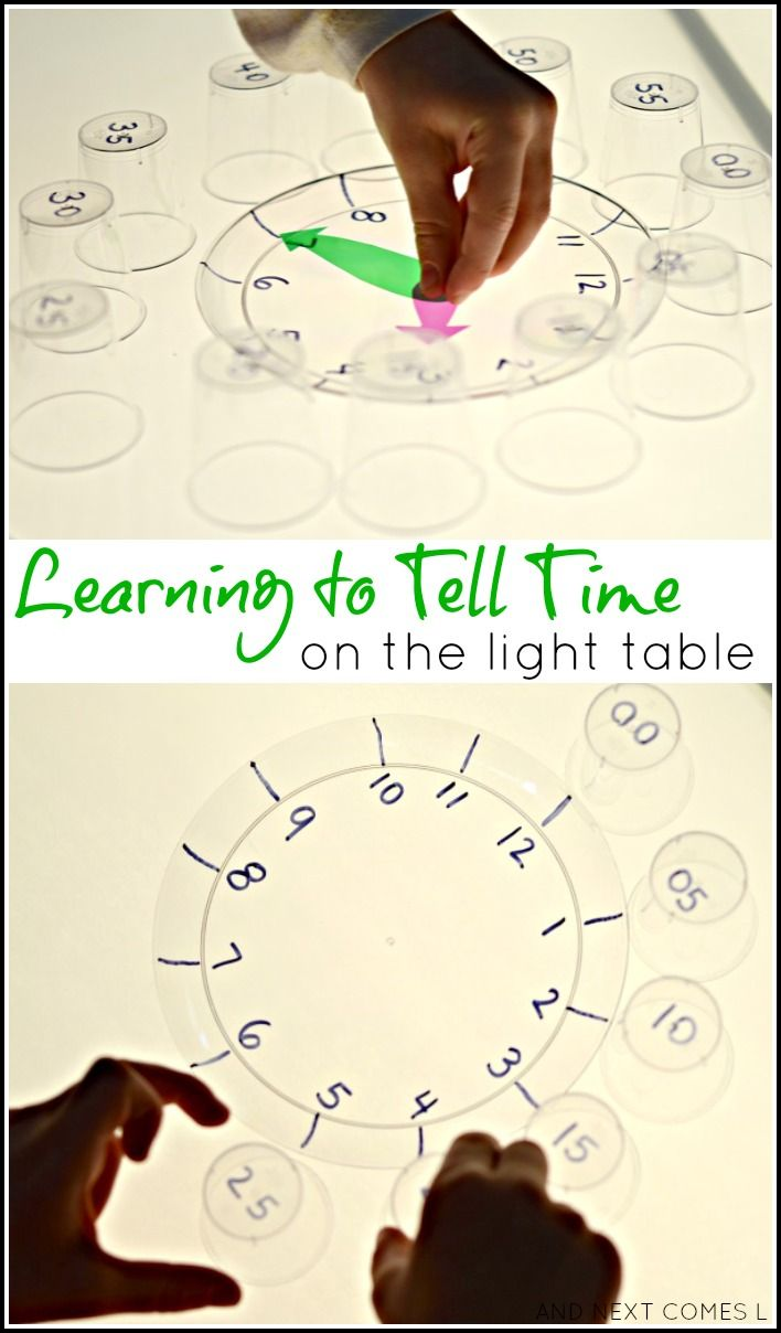 Child craft light table - Learning To Tell Time On The Light Table Light Reflections Series