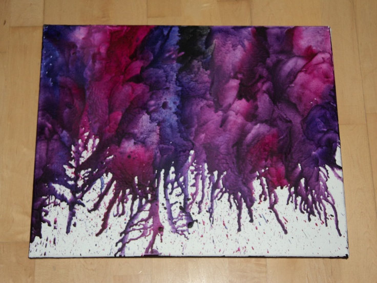 Purple Melted Crayons by EncausticRainbow on Etsy, $40.00