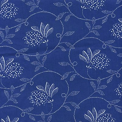 Kekfesto Cotton: Hand-dyed blue print fabrics from Hungary