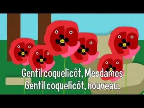 Chanson J'ai descendu dans mon jardin (Gentil coquelicot) - Paroles illustrées