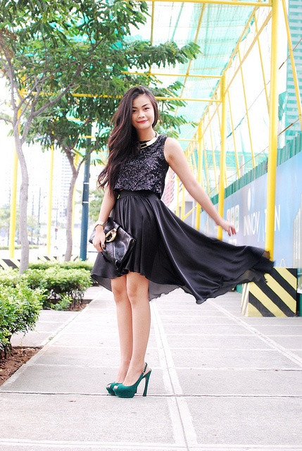 THAT GIRL IN BLACK by Vern Enciso    top and mullet skirt from SOUL Lifestyle  http://www.vernenciso.com/2012/05/that-girl-in-black.html