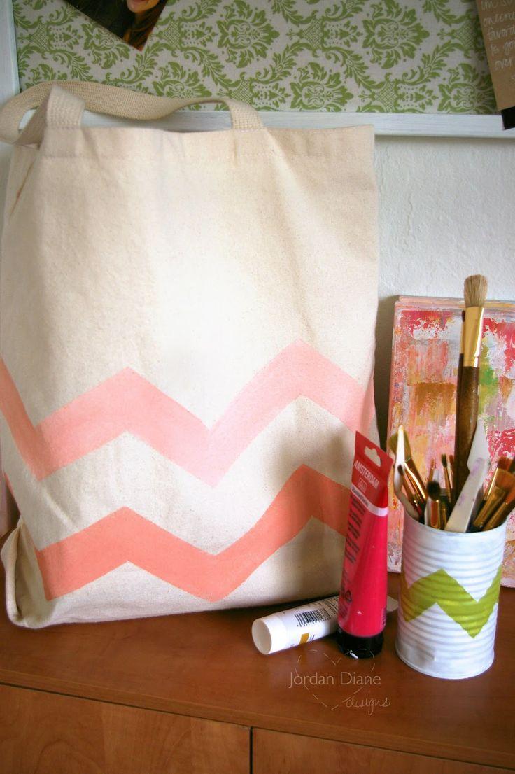 Ombre Chevron Tote Bag DIY