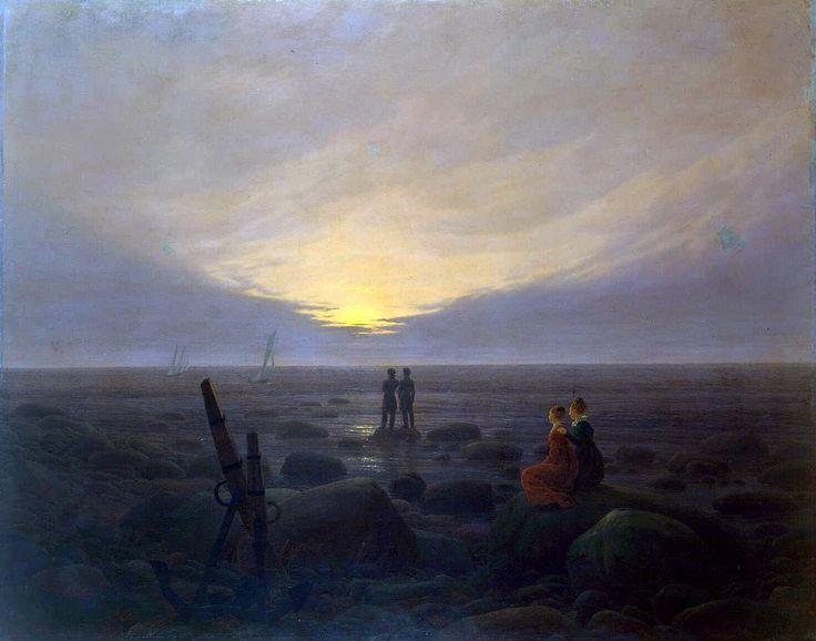 Восход луны над морем. Каспар Давид Фридрих