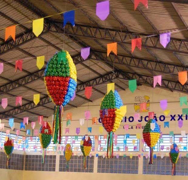 Balão de Garrafas Pet  #festa #junina