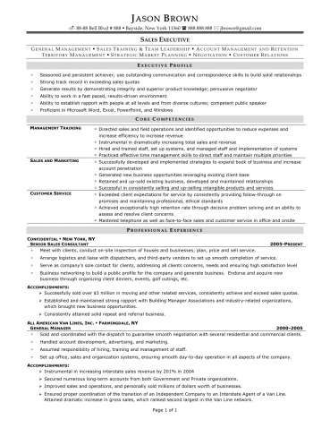 Sample Resume Sales and Marketing Manager Free Tamplate - nanny skills resume