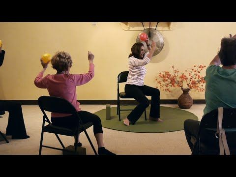 (1 Hr) Chair Yoga Class: Banishing Back Pain Naturally with Sherry Zak Morris, E-RYT - YouTube
