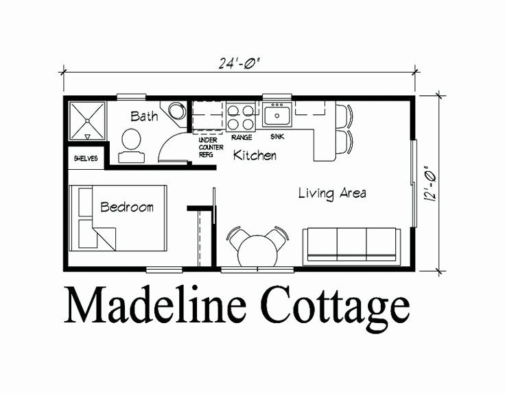 24x24 1 Bedroom House Plans Inspirational 12 X 24 Cabin Floor Plans Google Search In 2020 Cabin Floor Plans Cottage Floor Plans Tiny House Plans