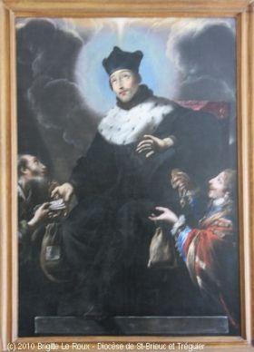 Saint Yves, par Claude Vignon, 1635. Peinture à l'huile sur toile, évêché de Saint-Brieuc