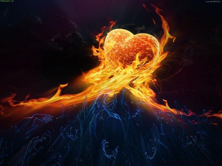 3D, Serce, Ogień