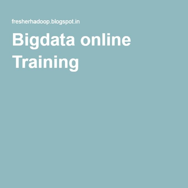 Bigdata online Training