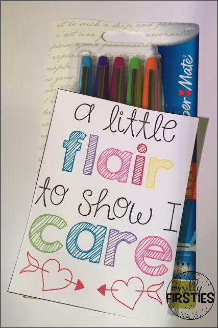 Perfect gift for teammates during the first few weeks back at school. Flair pen gift tag.
