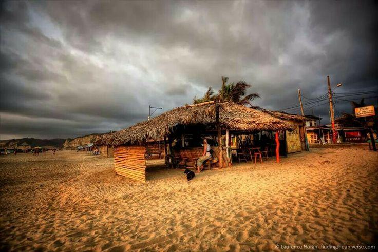 Beach bar, Canoa, Ecuador