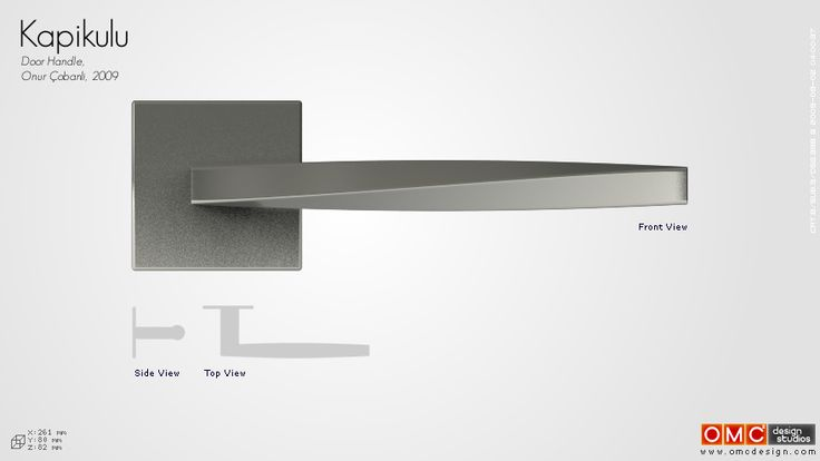 Kapikulu Door Handle. I want to make this in Stainless Steel