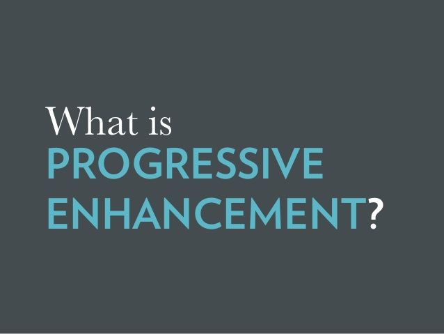 "There Are No ""Buts"" in Progressive Enhancement [Øredev 2015]"