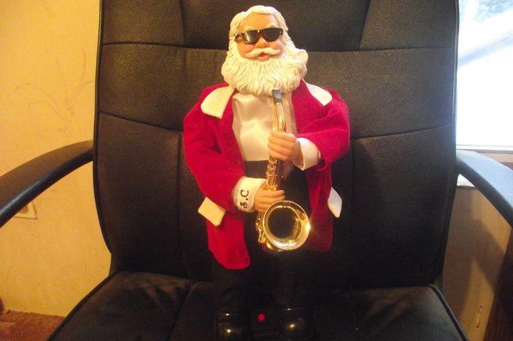 Sax Playin Santa  Swings Hips Jazzy Christmas Tunes Jingle Bells Deck The Halls