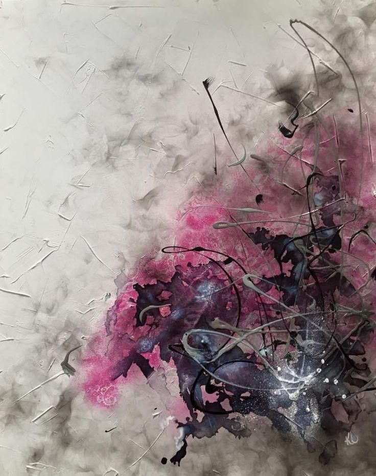 3e round Enchère pour Cancer du Sein 2016 Toile abstraite Acrylique sur toile de coton Karolanne Leduc Artiste Suivez-moi sur Facebook: Karolanne Leduc Artiste
