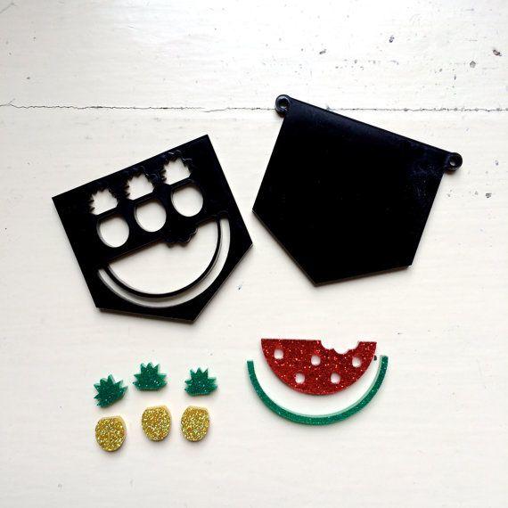 1 DIY Pendant Kit  Tropicana Sparkles by CraftyCutsLaser on Etsy, $8.00 #craftycutslaser #lasercut