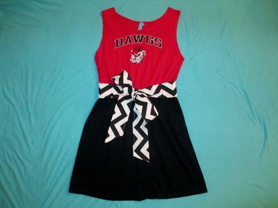 Georgia Bulldogs Game Day Tailgate Dress - Size M/L