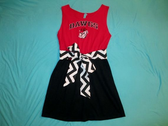 Georgia Bulldogs Game Day Tailgate Dress - Size M/L