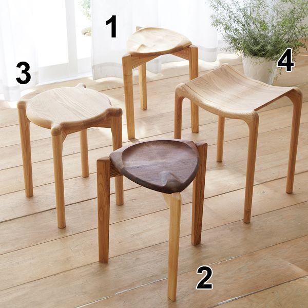 北海道産材で作るスツール 国産 通販 【ニッセン】 スタイルで選ぶ(家具・ソファー) シンプル 椅子(イス)・チェア