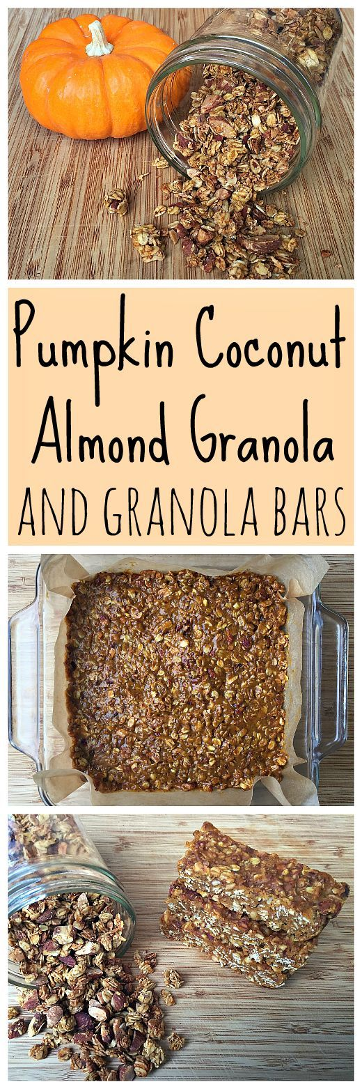 This pumpkin coconut almond granola is awesome! Plus you can turn it into pumpkin granola bars!