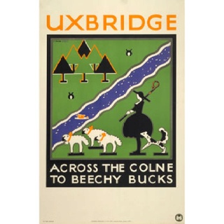 Vintage poster from London Underground.