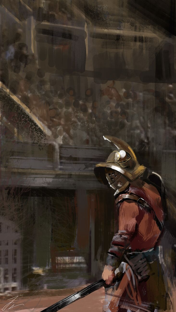 Gladiator in the Colosseum