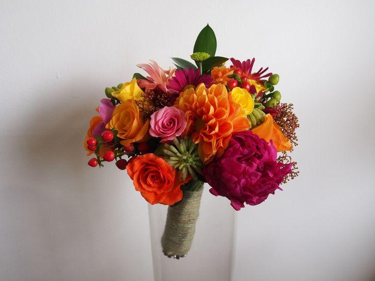 Bright wedding: Bride's bouquet