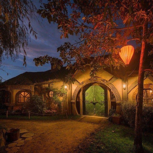 Dawn at The Shire, Green Dragon inn. The magical ...
