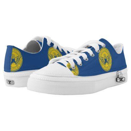 #Flag of Atlanta Georgia Low-Top Sneakers - #womens #shoes #womensshoes #custom #cool