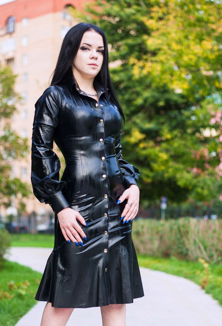 Fashion Dress With Button Women