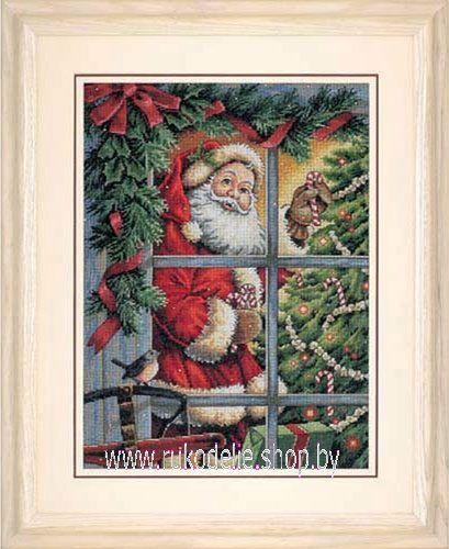 Набор для вышивки крестом Dimensions Санта с леденцами 08734