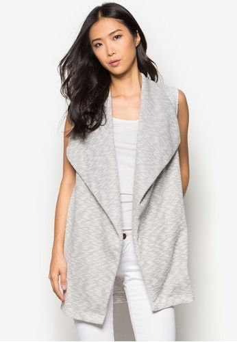 Grey Waterfall Snit Jacket from Dorothy Perkins in grey_1