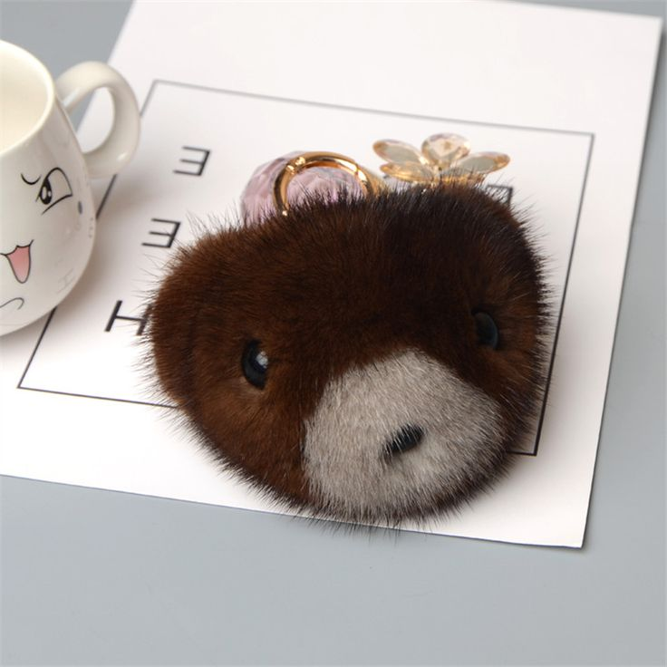 ==> [Free Shipping] Buy Best Mink Skins keychains Teddy Bear Raccoons Charm Keychain Luxury Wallet Wallet Charm Pendants Accessory Spongy Car Key Ring Online with LOWEST Price | 32814831321