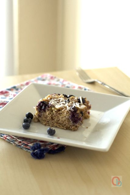 Baked Blueberry-Coconut Oatmeal Recipe | @Christine Ballisty McCarthy