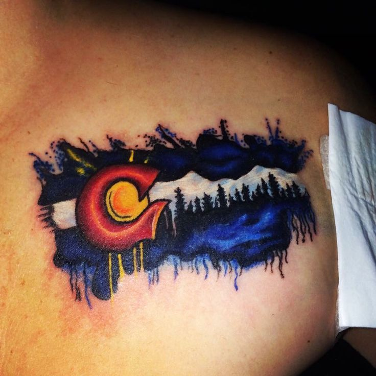 Colorado State Flag Tattoo by Matt Brady, Fillmore St Tattoo Corinth, MS
