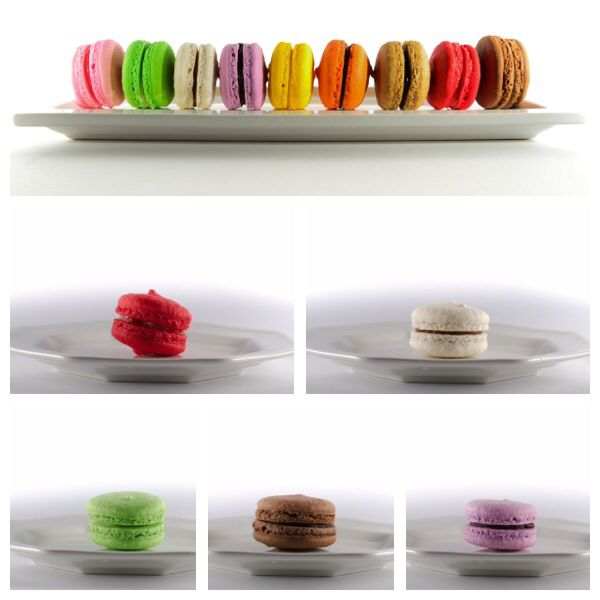 French macarons  Their petite size make it look like you are not destroying your diet.