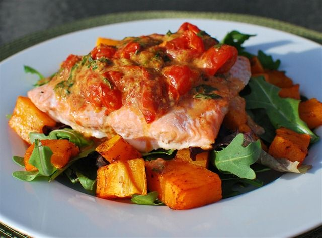 Serves 2 Extra Easy – 1 syn per serving Original – 1 syn per serving Ingredients 2 x 200g Salmon Fillets 15 cherry tomatoes 250g of butternut squash, peeled and chopped 1 tablespoon of Worcestershire sauce 1 tablespoon of Dijon mustard (1 syn) 2 tablespoons of extra light mayonnaise (1 syn) a couple of fresh...Read More »