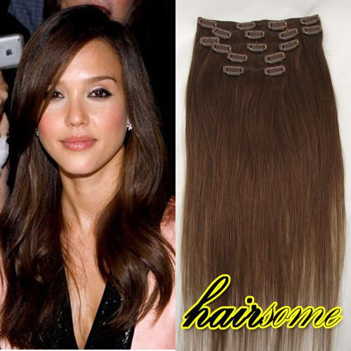 Details about lot full head 161820222426 clip in 100 remy details about lot full head 161820222426 clip in 100 remy real human hair extensions 20 15 and colors pmusecretfo Images