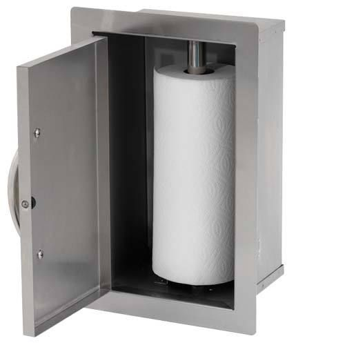 Built-In Paper Towel Storage