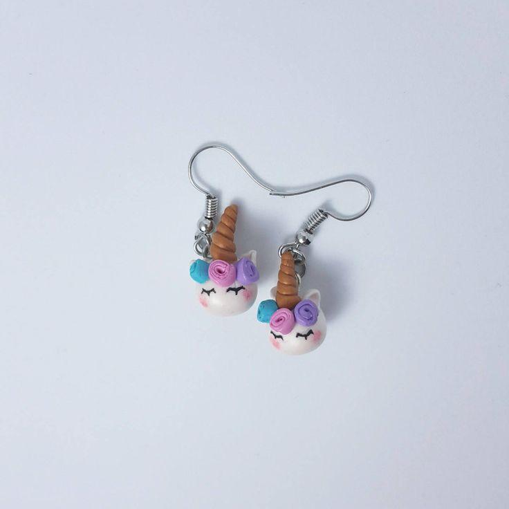 Unicorn earrings/ Fantasy earrings/ Polymer clay earrings/ Rainbow earrings/ Magical jewelry/ Unicorn jewelry/ Kawaii earrings/ Cute unicorn #myfimo #bystellakyriakou #etsy #polymerclayjewelry #handmade #handmadejewelry #jewelry #earrings #rainbow #sphereball #fantasyscifi #unicornjewelry #giftforher #magicaljewelry #cutehorse http://etsy.me/2GLnnqK