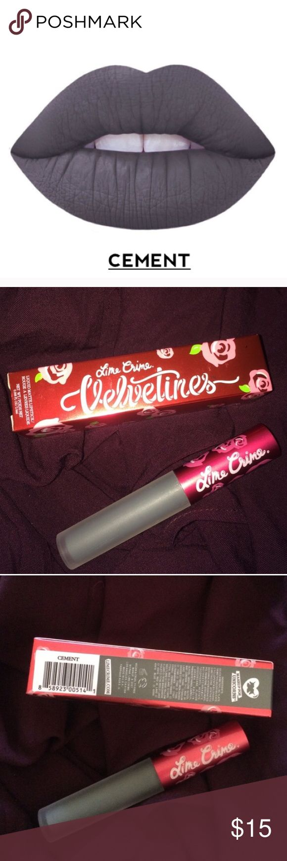 cement limecrime matte liquid lipstick brand new in box liquid to matte formula wears