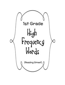 1st grade high frequency words pdf