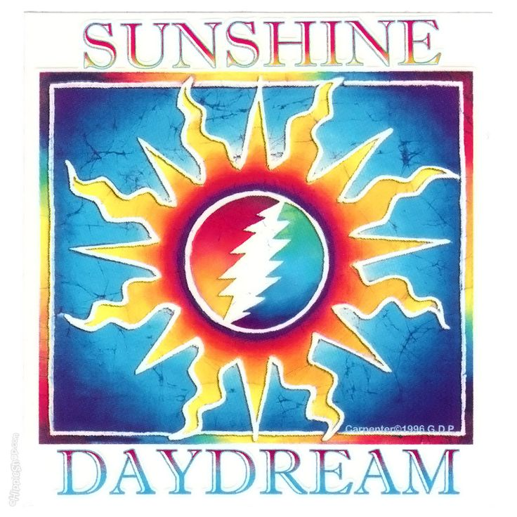 Grateful Dead  Sunshine Daydream Bumper Sticker