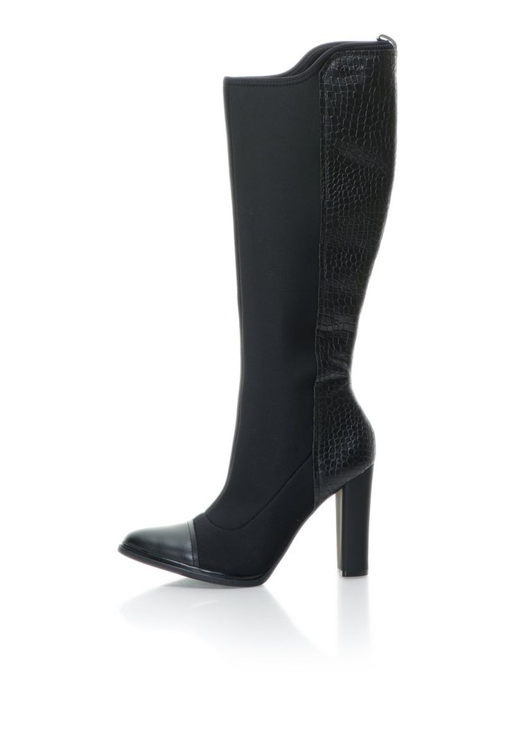 Jules Fekete Térdig Érő Szárú Csizma Neoprénnel - Calvin Klein