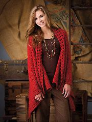 Crochet - La Symphonie Jacket Wrap - #AC01074...this looks great. Sometimes I wish they gave a sample of the stitch pattern so we could get a better idea of the look, drape, and feel before we buy.