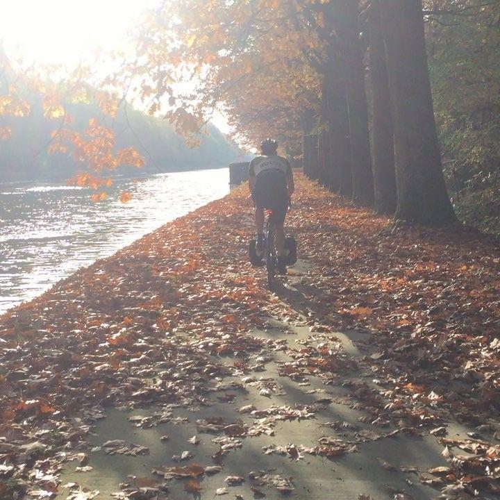 "132 Likes, 2 Comments - Erik van Blokland (@letterror) on Instagram: ""Biking along a Belgian canal"""