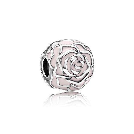 Rose garden, pink enamel - 791292EN40 - Charms | PANDORA