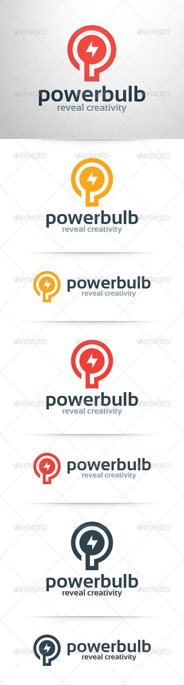 Power Bulb Logo Template — Vector EPS #idea #logo • Available here → https://graphicriver.net/item/power-bulb-logo-template/8294638?ref=pxcr